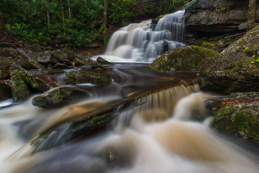 The beautiful Elakala No. 2, Shay's Run, Black Water Falls State Park, West Virginia.
