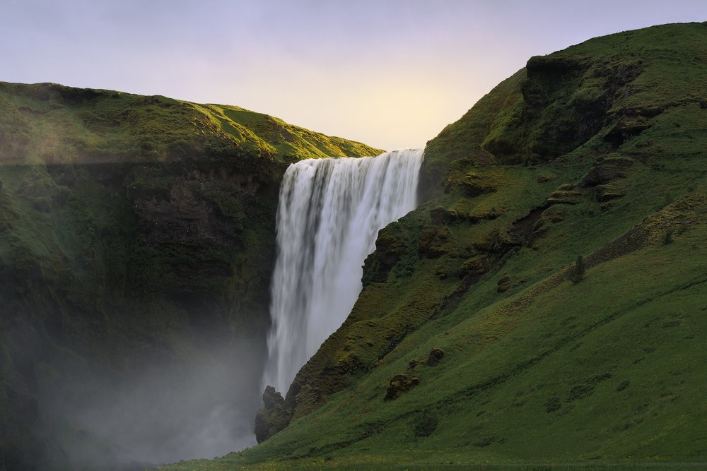 First Light at Skogafoss
