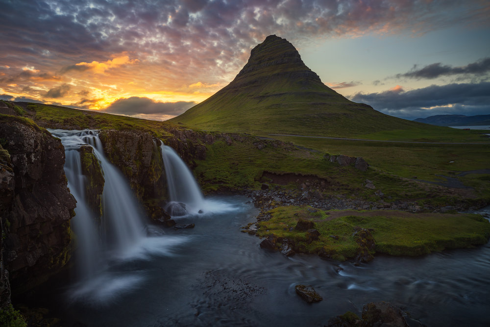 Sunset at Kirkjufell