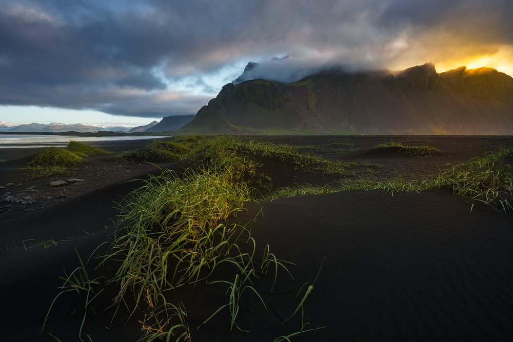 Black Sand Beach at Vestrahorn