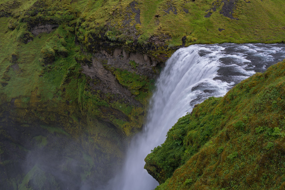 Top of the Falls at Skogafoss