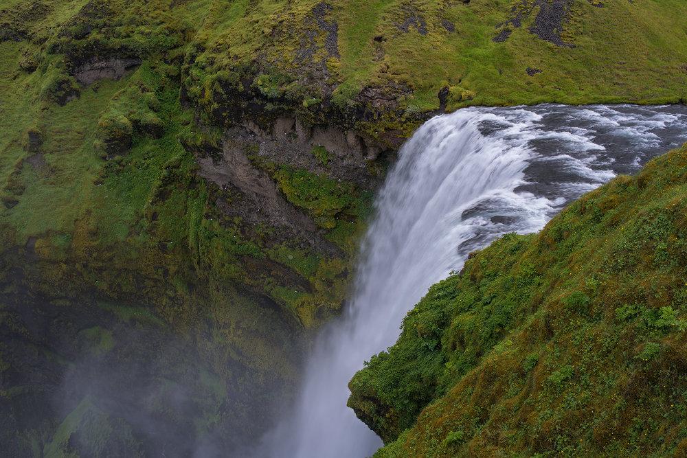 Top of the Falls at Skogafoss