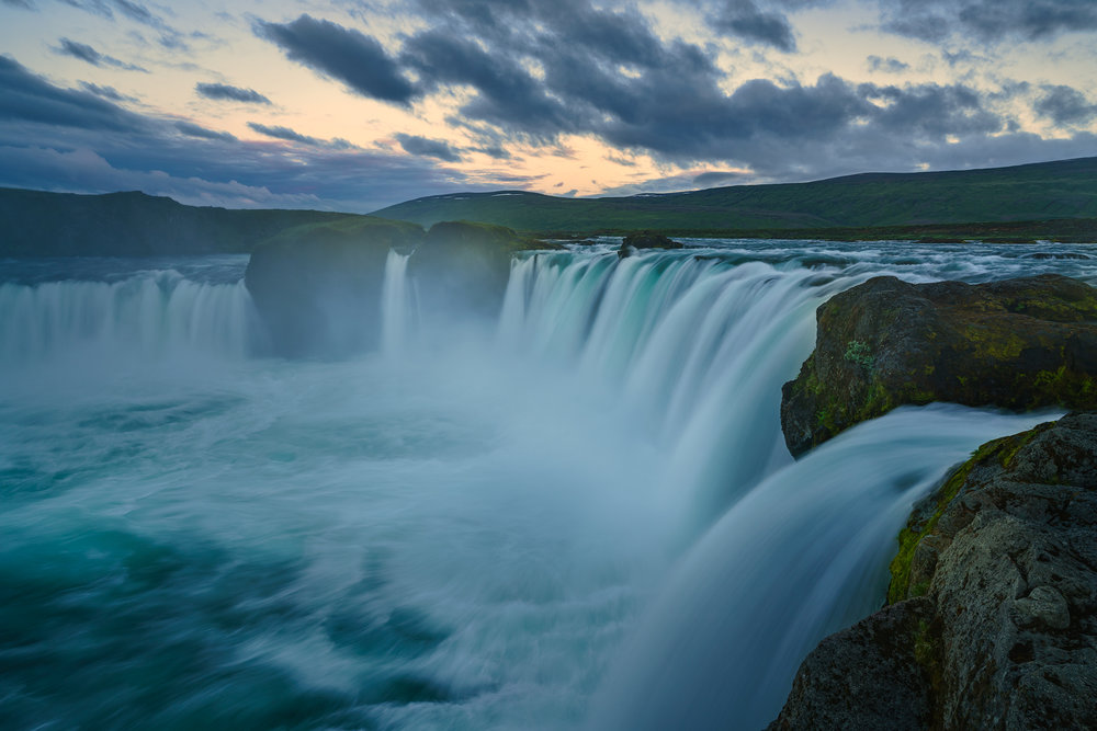 Twilight at Godafoss