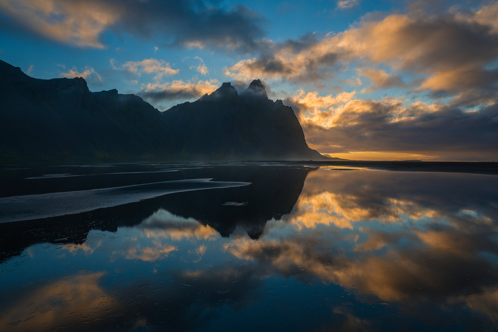 First Light at Vestrahorn