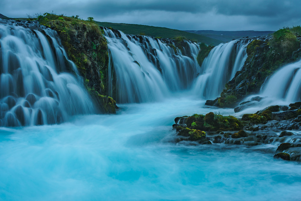 Bruarfoss in Blue