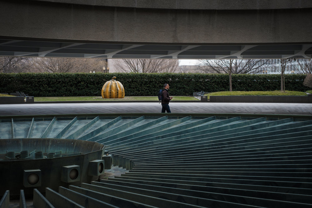 Solitary Man  • Hirshhorn Museum, Washington DC. | Fuji X-H1 and a Fujinon XF35 f1.4 | ISO 400, f5.6, 1/200 of a second.