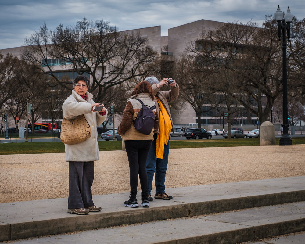 The Tourists  • National Mall, Washington DC. | Fuji X-H1 and a Fujinon XF35 f1.4 | ISO 400, f5.6, 1/250 of a second.
