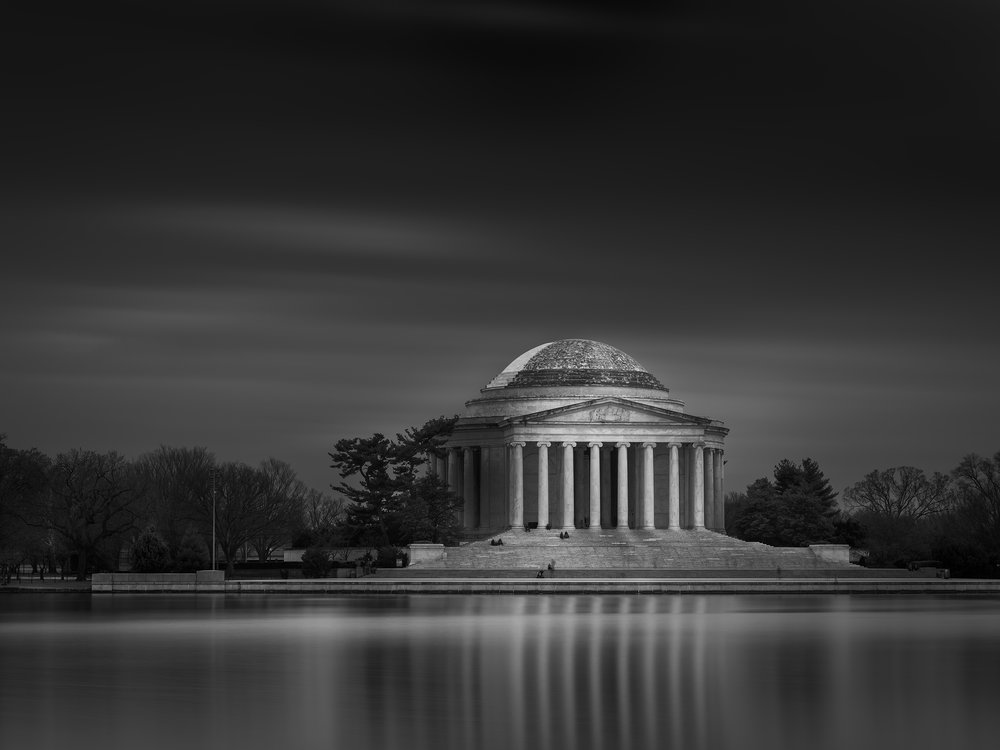 Jefferson Memorial, Washington DC - Fuji GFX50s and a Fujinon GF32-64mm f4 R WR | ISO 100 at f11 for 240 seconds.