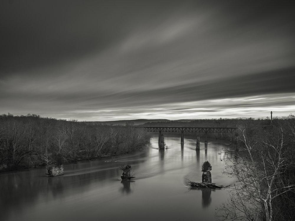 Sunrise on the Potomac, Shepherdstown, WV - Fuji GFX50s and a Fujinon GF32-64mm f4 R WR | ISO 100 at f11 for 240 seconds.