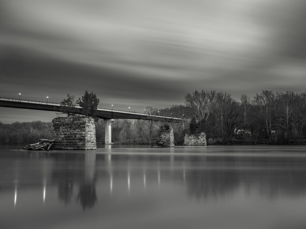 Potomac River Bridge, Shepherdstown, WV - Fuji GFX50s and a Fujinon GF32-64mm f4 R WR | ISO 100 at f11 for 240 seconds.