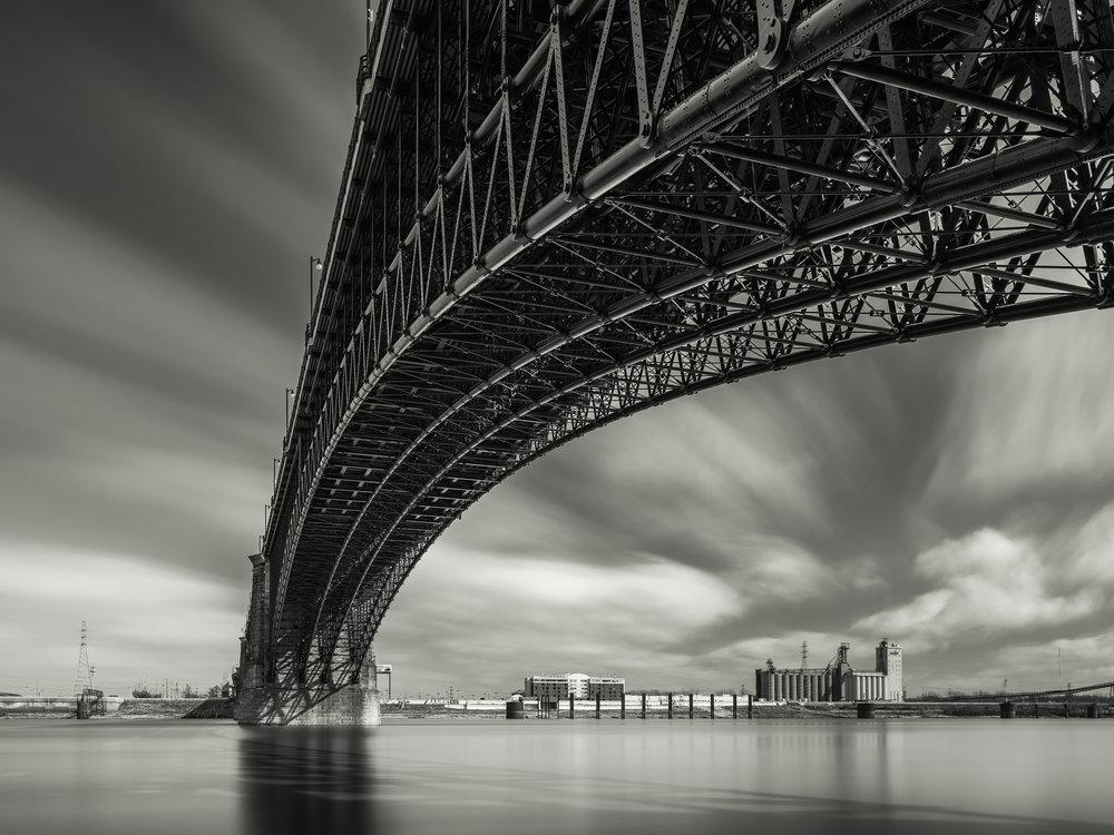 Eads Bridge, St Louis, MO - Fuji GFX50s and a Fujinon GF23mm f4 R WR | ISO 100 at f11 for 240 seconds.