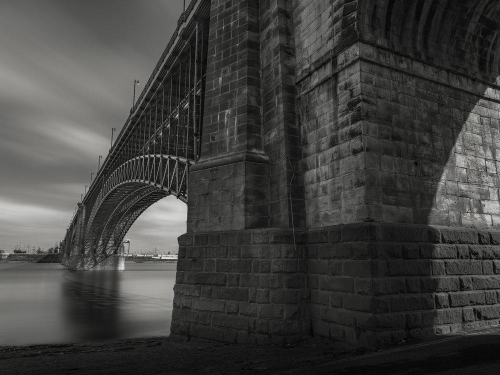 Eads Bridge Abutment, St Louis, MO - Fuji GFX50s and a Fujinon 23mm f4 R WR | ISO 100 at f11 for 120 seconds.