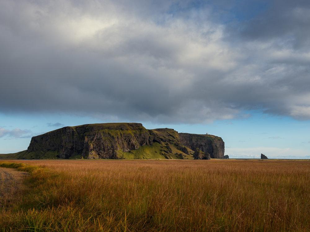 Dyrhólaey along the southern coast.