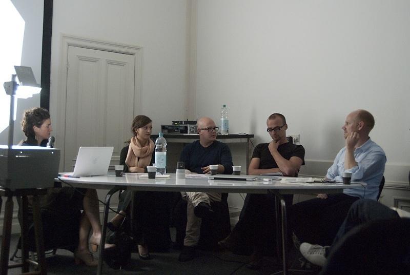 "Public programe ""Redesigning the City""  with Alexis Blake, Gideon Boie (BAVO), Vinca Kruk & Gon Zifroni (Metahaven), Huib Haye van der Werf"