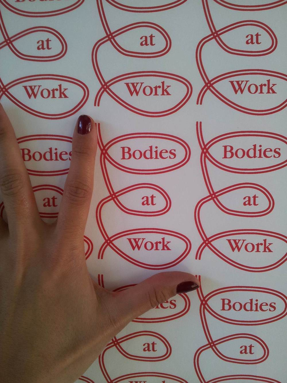 Bodies at Work, logo, Beijing 2013
