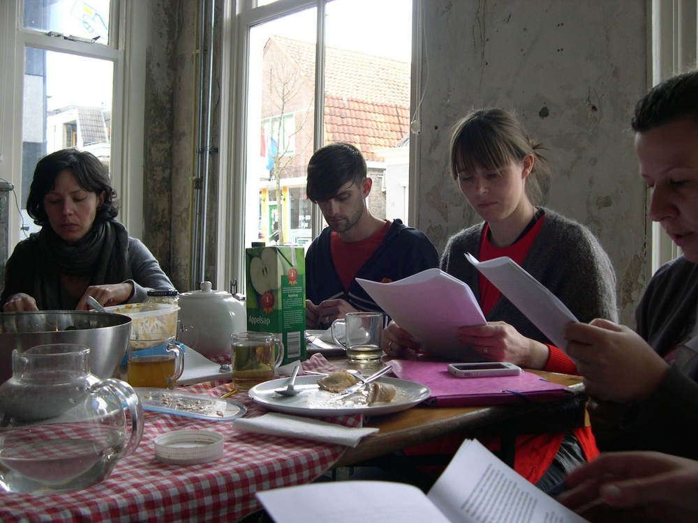 Reading sessions and public activities at SYB with ADA, The Living Room, Maria Pask, Andreas Schwab. Photo: Paola Anziché.