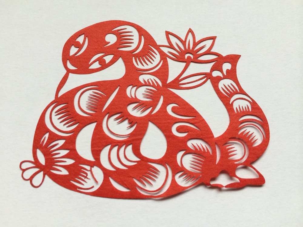 A little paper-cut made by the little man with the little hands living in his house-shop near IFP, Hutong Beijing (Nov.2013)  ~ Recalling Beijing ~