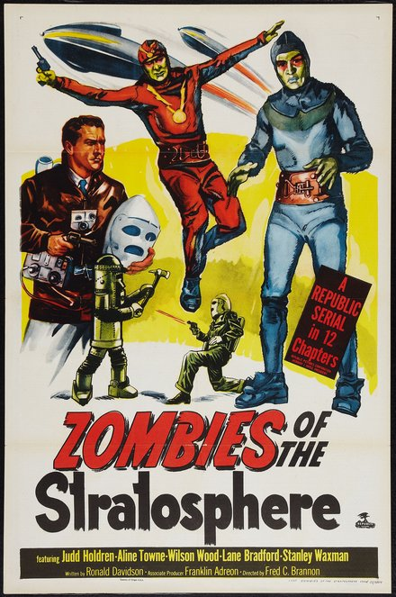 Zombies Of The Stratosphere Framed Horror Movie Poster Wall Art