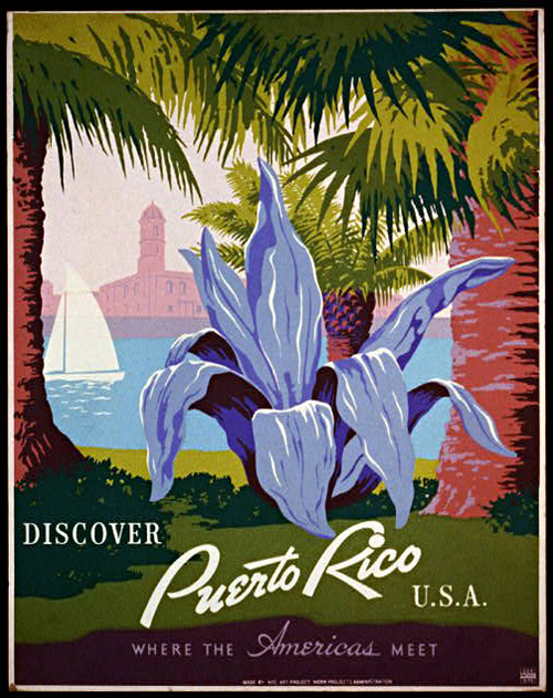 Discover Puerto Rico Vintage Travel Posters Unique Wall Art — MUSEUM ...