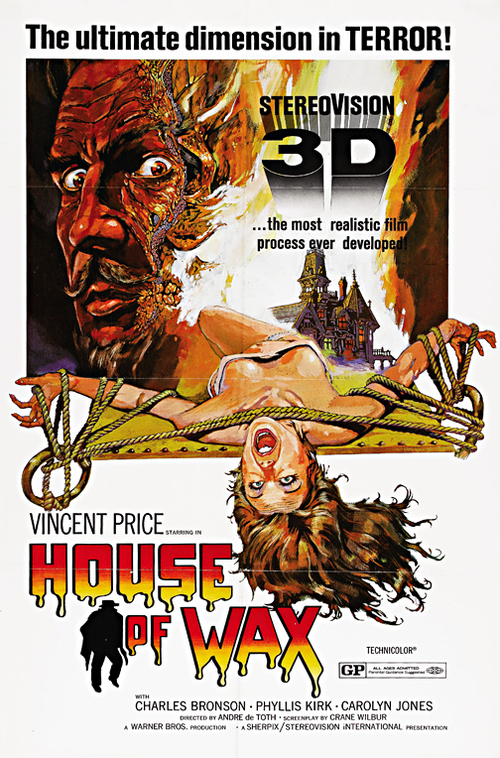 House Of Wax 3d Framed Horror Movie Poster Wall Art Museum Outlets