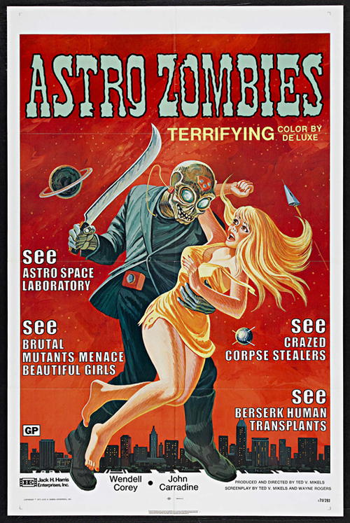 Astro Zombies Framed Classic Horror Movie Poster — MUSEUM OUTLETS