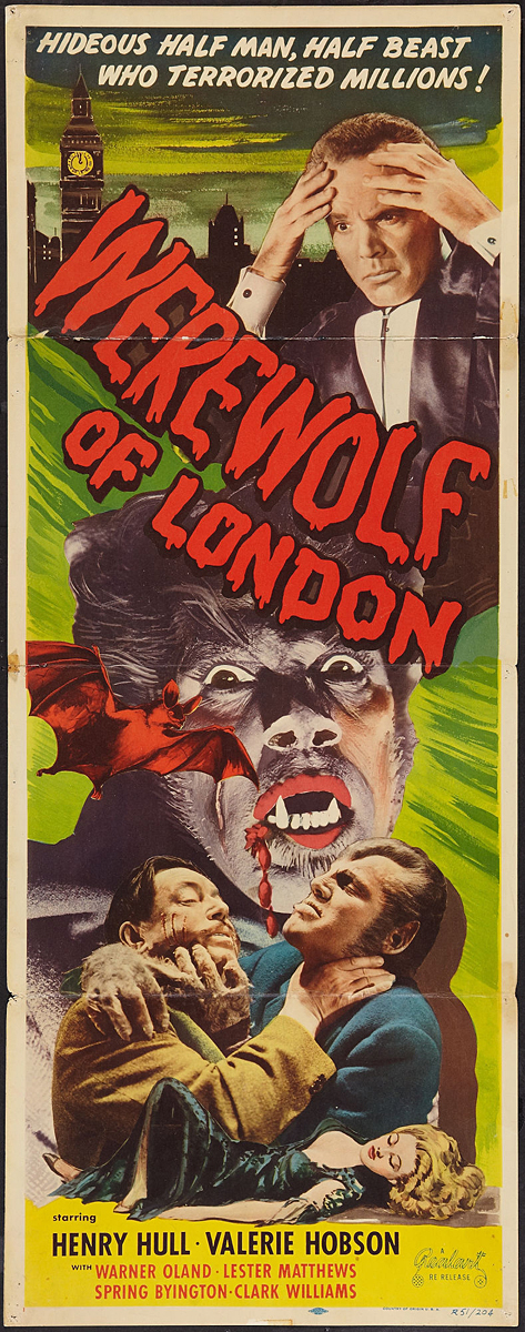 werewolf of london classic horror movie poster � museum