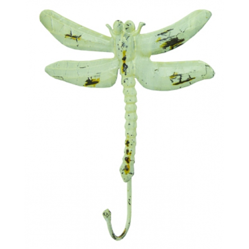 Distressed Dragonfly Decorative Wall Hooks