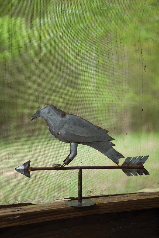 Galvanized Tin Crow Or Raven Weathervane