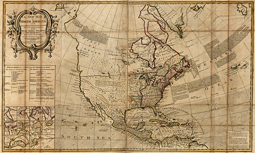 1725 America Antique Map — MUSEUM OUTLETS