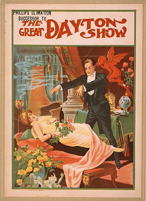 Great Dayton Show Vintage Magic Poster Museum Outlets