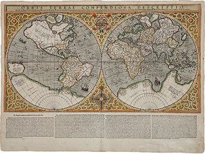 Old world maps museum outlets mawo 71 world map duisburg 1400 antique framed mapsg gumiabroncs Gallery