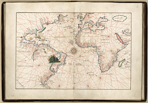 Old world maps museum outlets mawo 2 atlantic ocean 1544 antique framed mapsg 1544 atlantic ocean antique world map print gumiabroncs Gallery