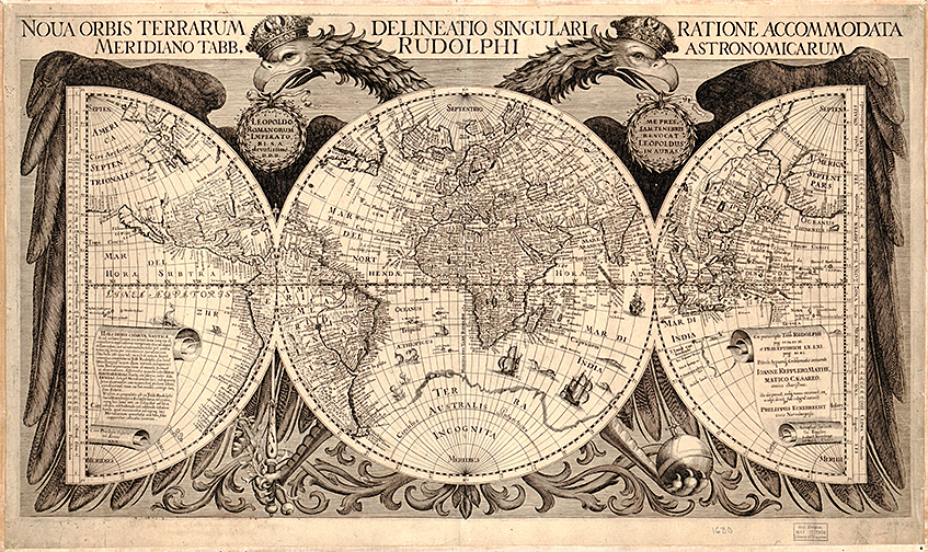 Old world maps museum outlets mawo 6 earth 1630 antique framed mapsg 1630 antique old world map print gumiabroncs Gallery