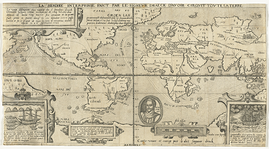 1583 Antique Old World Map