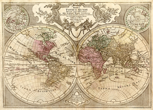 1775 Old World Antique Map Museum Outlets