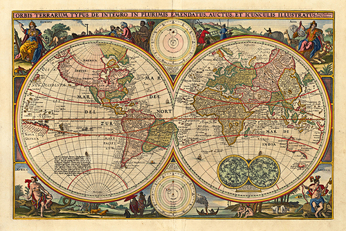 Antique World Map MUSEUM OUTLETS - Antique world map picture