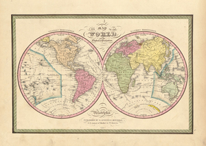 Old world maps museum outlets mawo 67 world map 1849 antique framed mapsg gumiabroncs Gallery