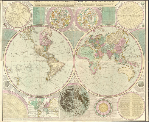 Bowles 1780 antique world map museum outlets bowles 1780 antique world map gumiabroncs Gallery