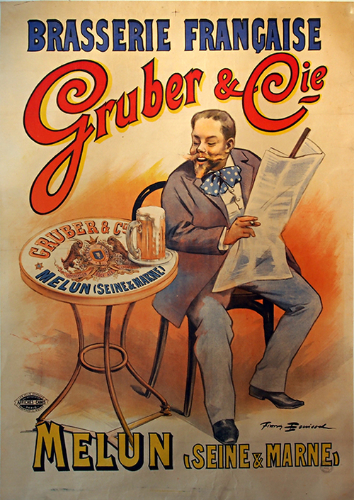 Gruber Cie French Vintage Beer Poster