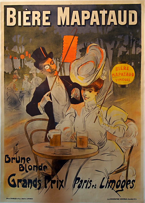Biere Mapataud Vintage French Beer Poster MUSEUM OUTLETS