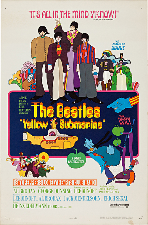 Yellow Submarine Vintage Classic Movie Poster Art