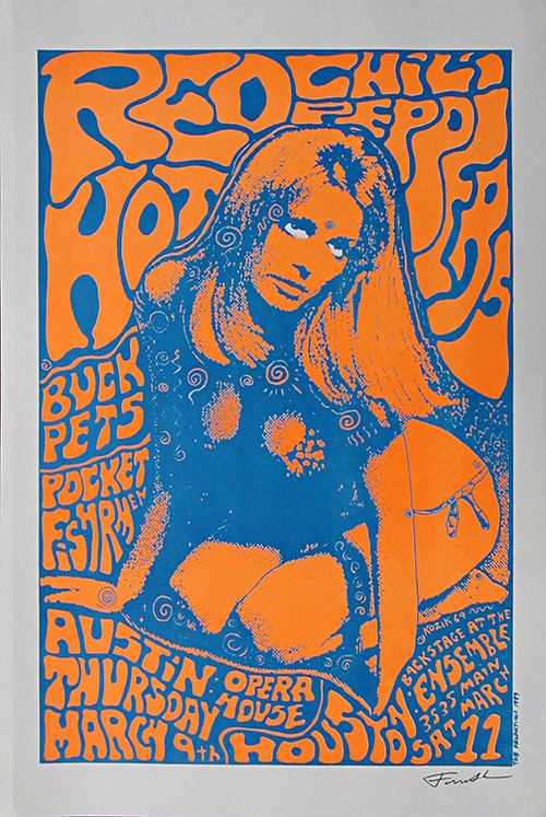 Red Hot Chili Peppers Vintage Entertainment Poster Art Museum Outlets