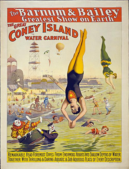 Barnum Bailey Coney Island Vintage Circus Poster Wall Art — MUSEUM ...