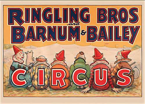 CP 24 Ringling Circus Clowns Vintage Posters