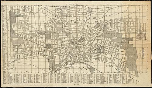 1919 Hartford CT Antique Connecticut Map — MUSEUM OUTLETS