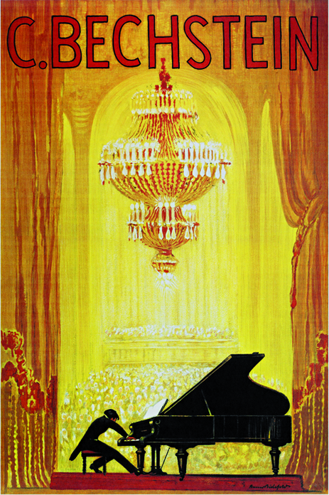 C. Bechstein Piano French Poster Framed Wall Art — MUSEUM OUTLETS