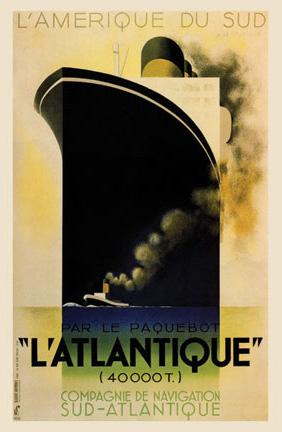 Transatlantique French Line Vintage Poster VEP064 Art Print A4 A3 A2 A1