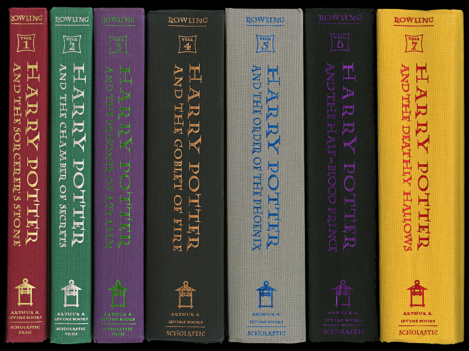 harry potter book spine wall art  u2014 museum outlets