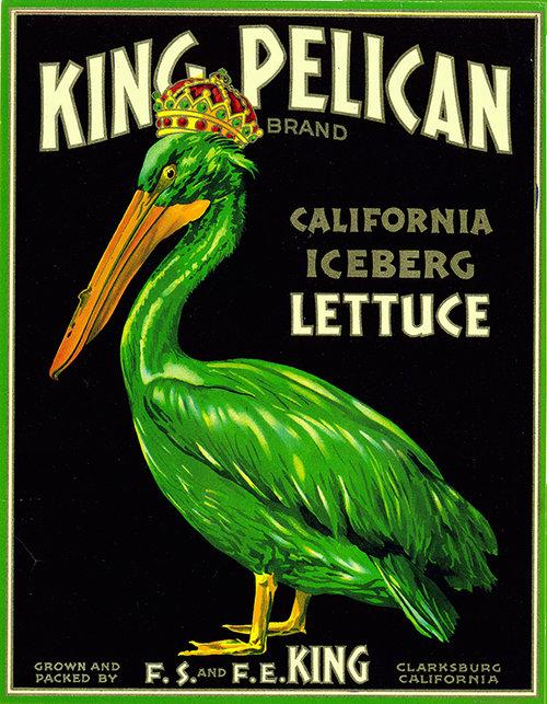King Pelican Lettuce Vintage Advertising Poster Wall Art — MUSEUM ...