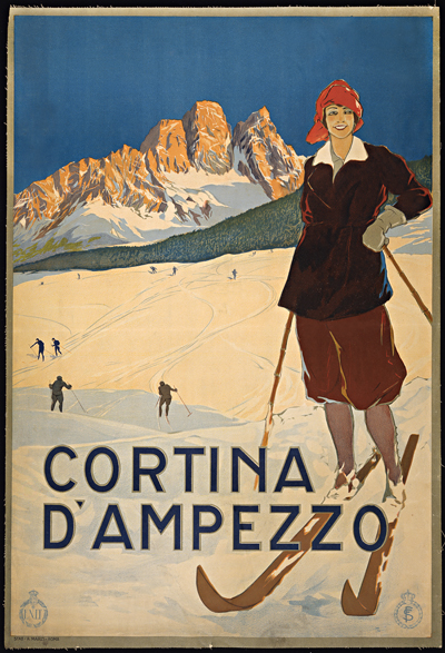 Cortina D\' Ampezzo Vintage Ski Poster Wall Art — MUSEUM OUTLETS